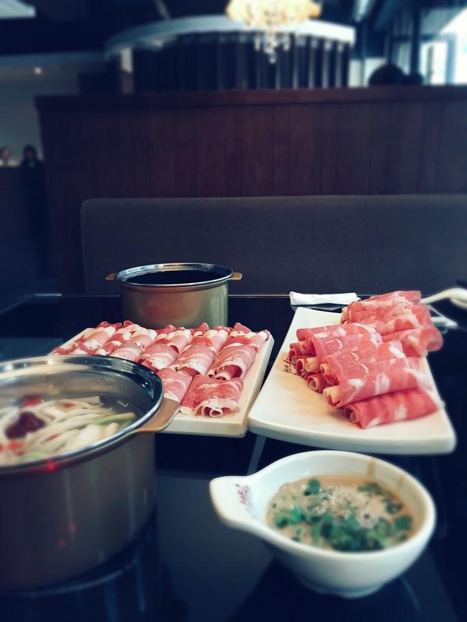 Chinese hot pot food